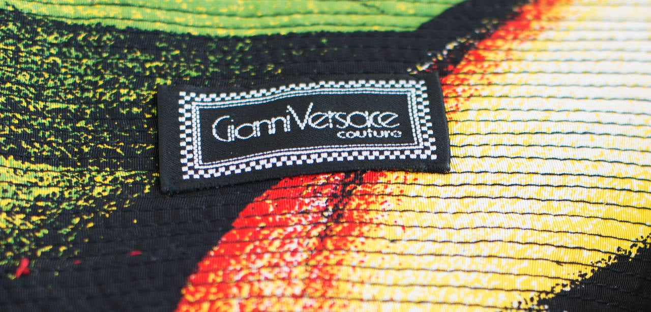 1991 Gianni VERSACE Iconic Strapless Short Embroidered Stunning Dress 5