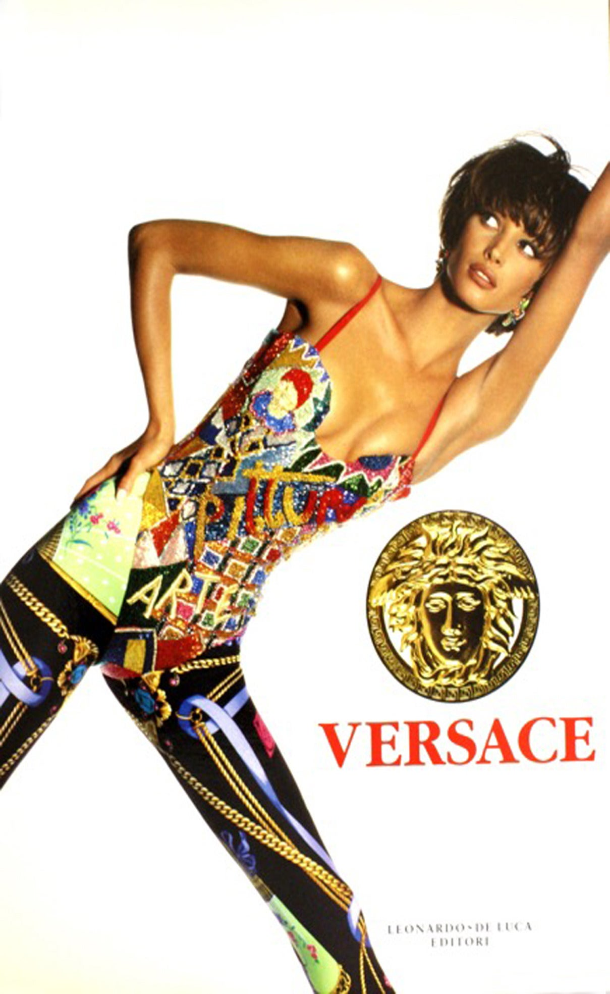 1991 Gianni VERSACE Iconic Strapless Short Embroidered Stunning Dress 6