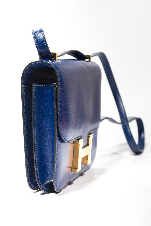Hermès Constance  Divine Blue  Leather  bag In Good Condition For Sale In Paris, FR