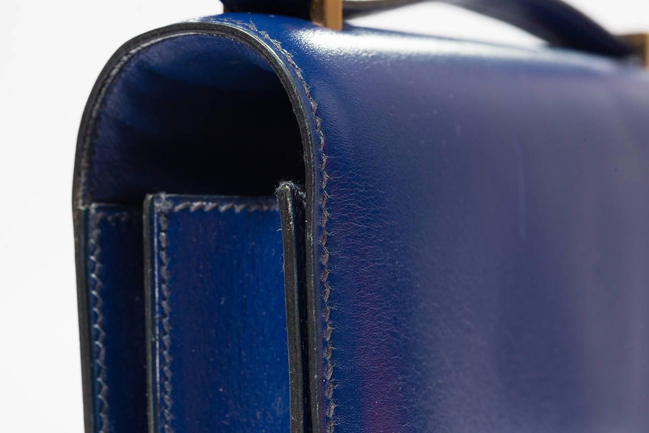 Women's Hermès Constance  Divine Blue  Leather  bag For Sale