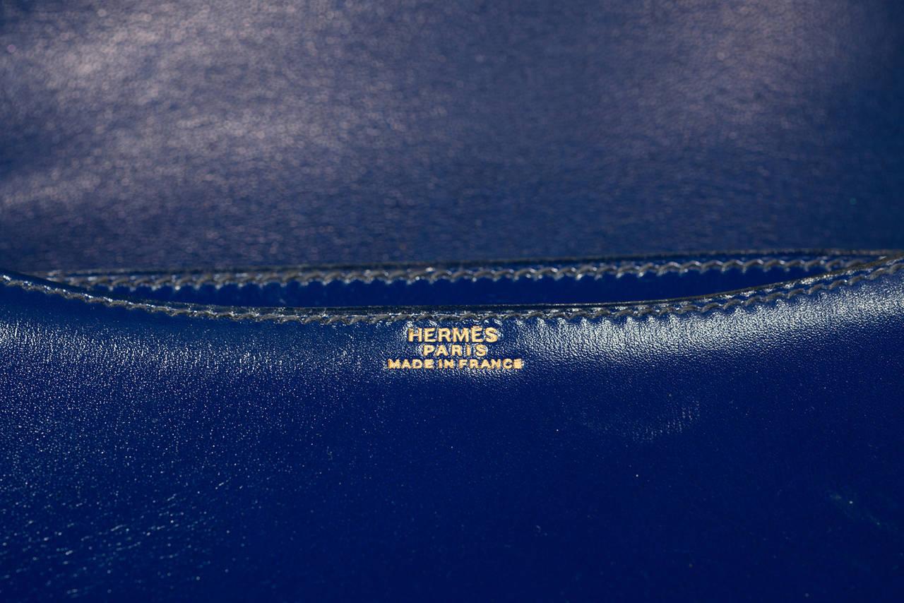 Hermès Constance  Divine Blue  Leather  bag For Sale 1