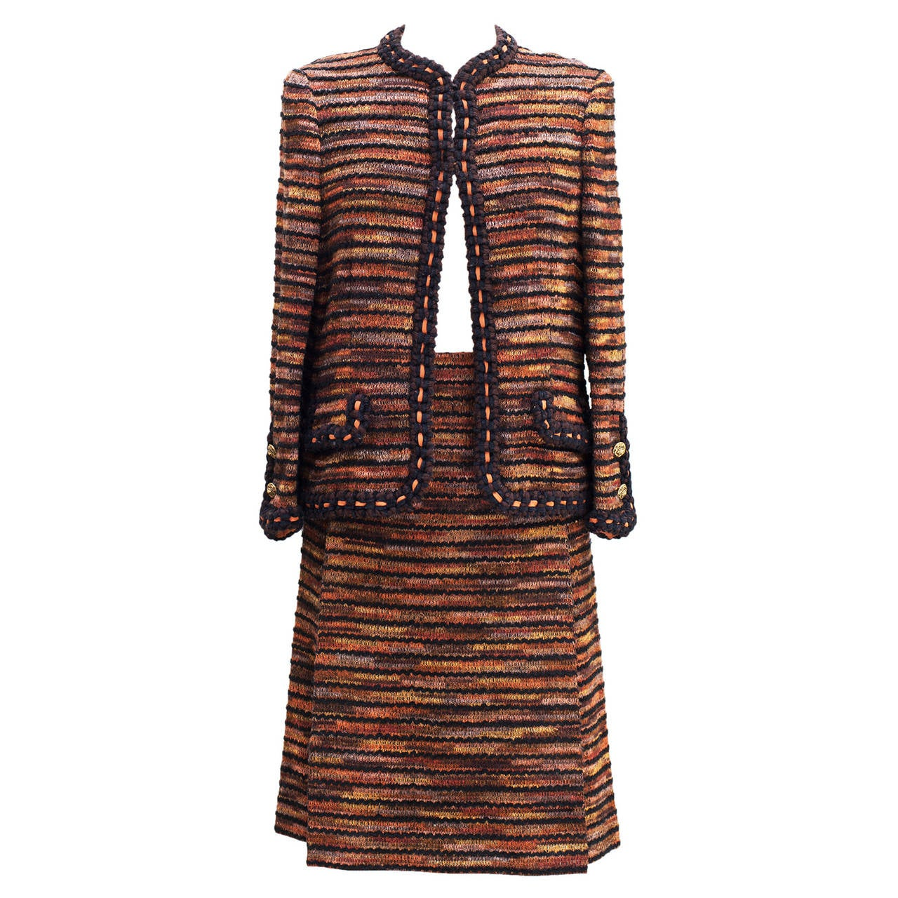 Chanel Haute-Couture  1960 -1970 Vintage Tweed Suit For Sale
