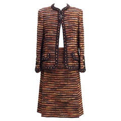 Chanel Haute-Couture  1960 -1970 Vintage Tweed Suit