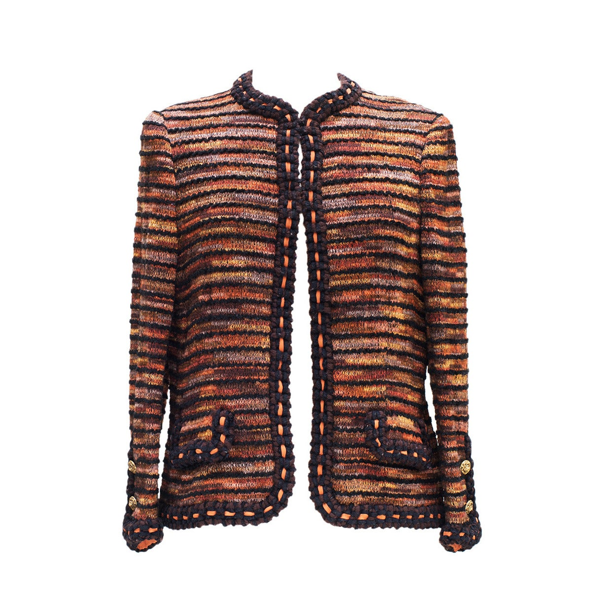 Chanel Haute-Couture  1960 -1970 Vintage Tweed Jacket and the skirt 