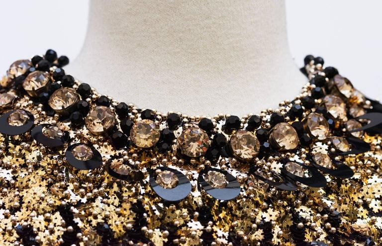 1967/68  Pierre Cardin Amazing Haute Couture Black and Gold Sequins  2