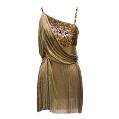 1994 Gianni Versace Haute Couture Stunning Evening Metallic Dress