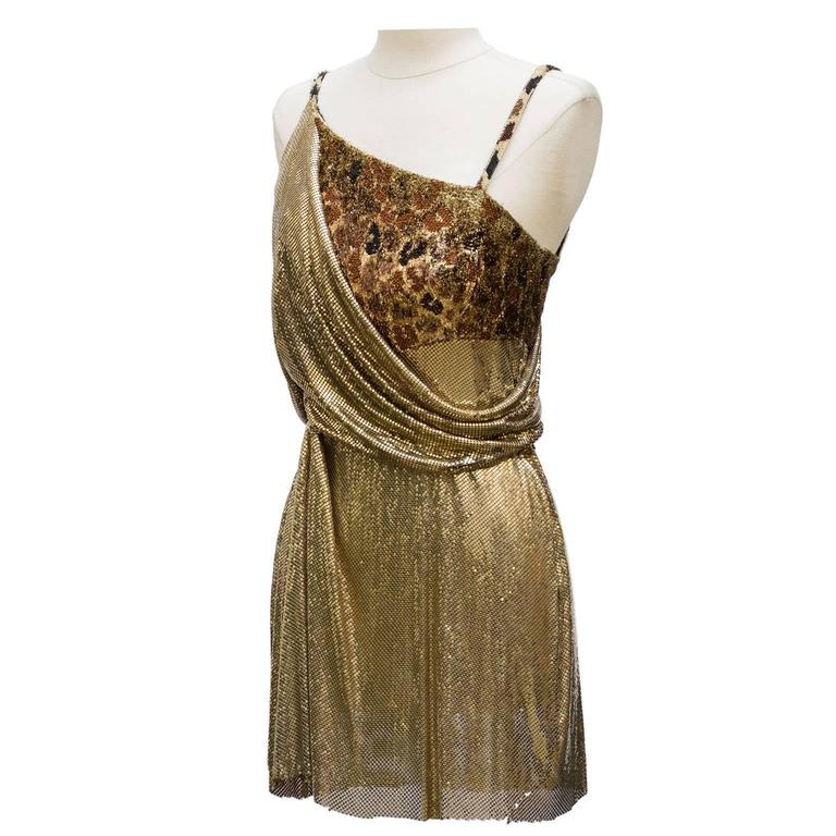 1994 Gianni Versace Haute Couture Stunning Evening Metallic Dress  2