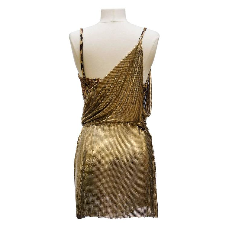 1994 Gianni Versace Haute Couture Stunning Evening Metallic Dress  3