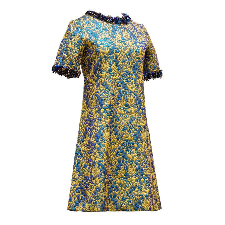 1966/67 Yves Saint Laurent Rive Gauche Divine Cocktail Dress For Sale