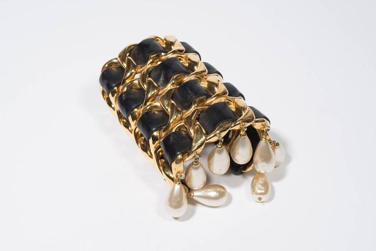 Chanel Vintage Amazing Cuff  1988-1992 For Sale 2