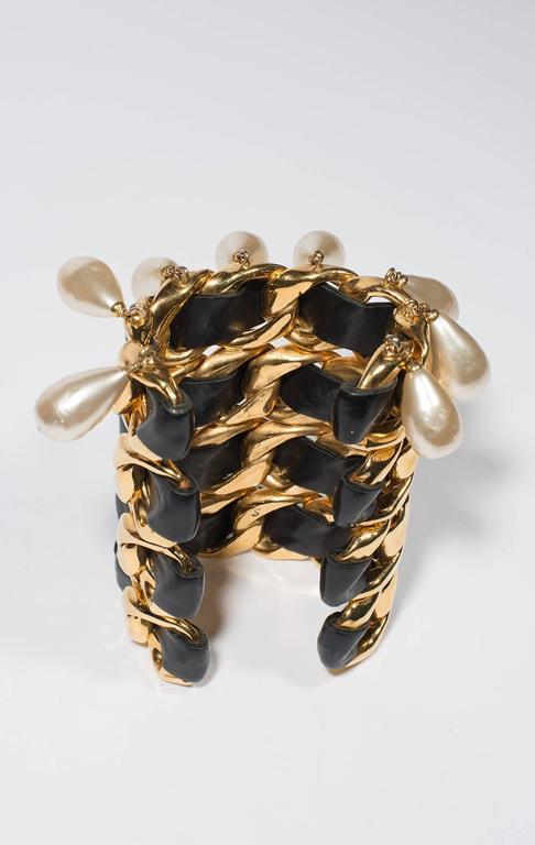 Women's Chanel Vintage Amazing Cuff  1988-1992 For Sale