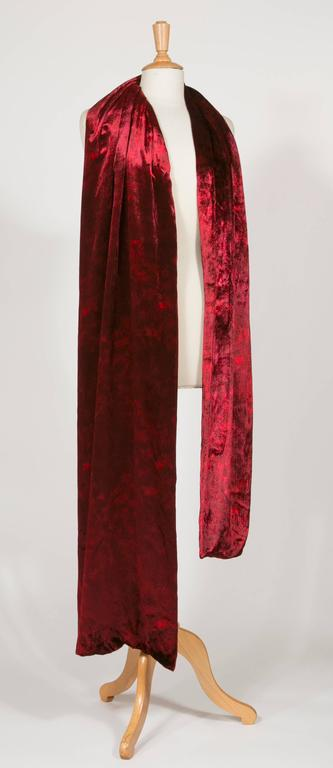 1975 Yves Saint Laurent Haute Couture Iconic  Ruby Silk Velvet  Evening Dress 9