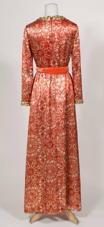 1966/67 Christian Dior Sparkling Broché Orange Dress 6
