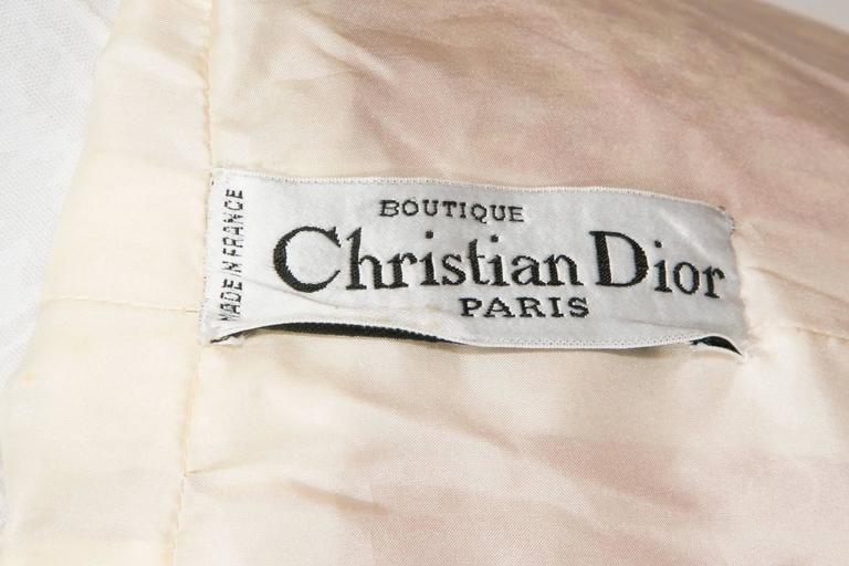 1966/67 Christian Dior Sparkling Broché Orange Dress 7