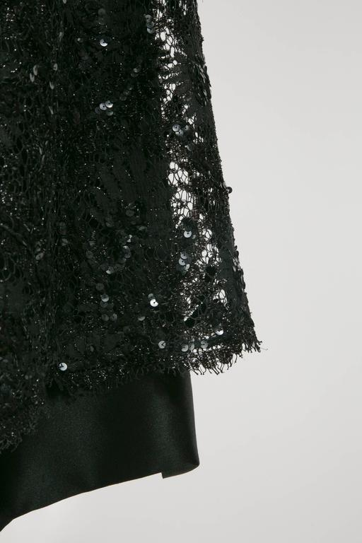 1960 's Balenciaga Haute -Couture Blake Lace Sequins Cocktail Dress 6