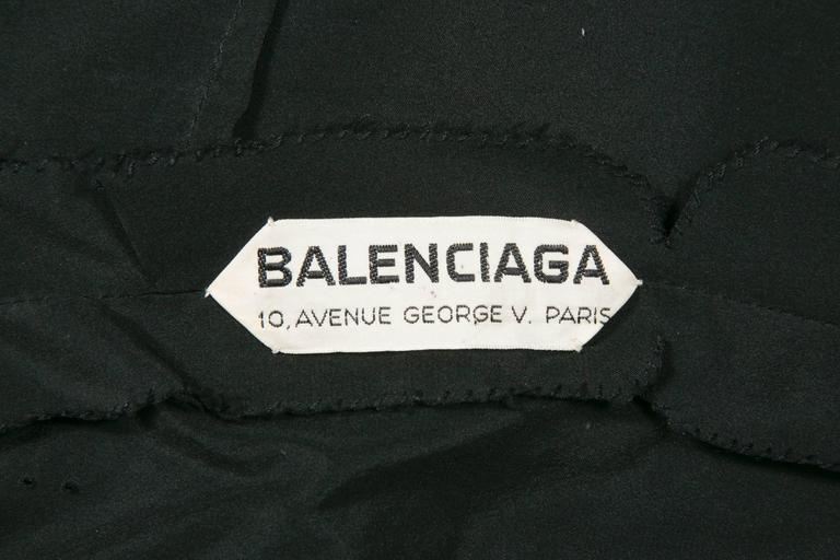 1960 's Balenciaga Haute -Couture Blake Lace Sequins Cocktail Dress 7