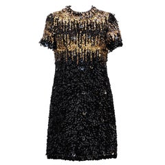 1967/68  Pierre Cardin Amazing Haute Couture Black and Gold Sequins