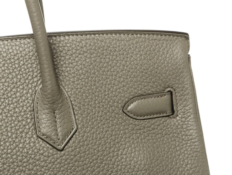19fab53cbb90 Hermes Etain (Gray) Togo Leather 35cm Birkin Handbag SHW For Sale .