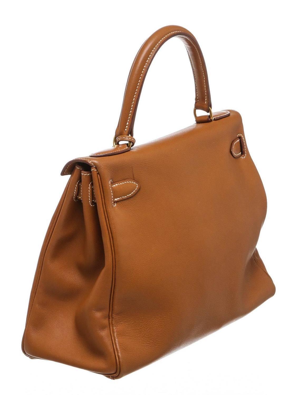 birkins handbags - Hermes Gold Swift Leather 28cm Kelly Handbag GHW For Sale at 1stdibs