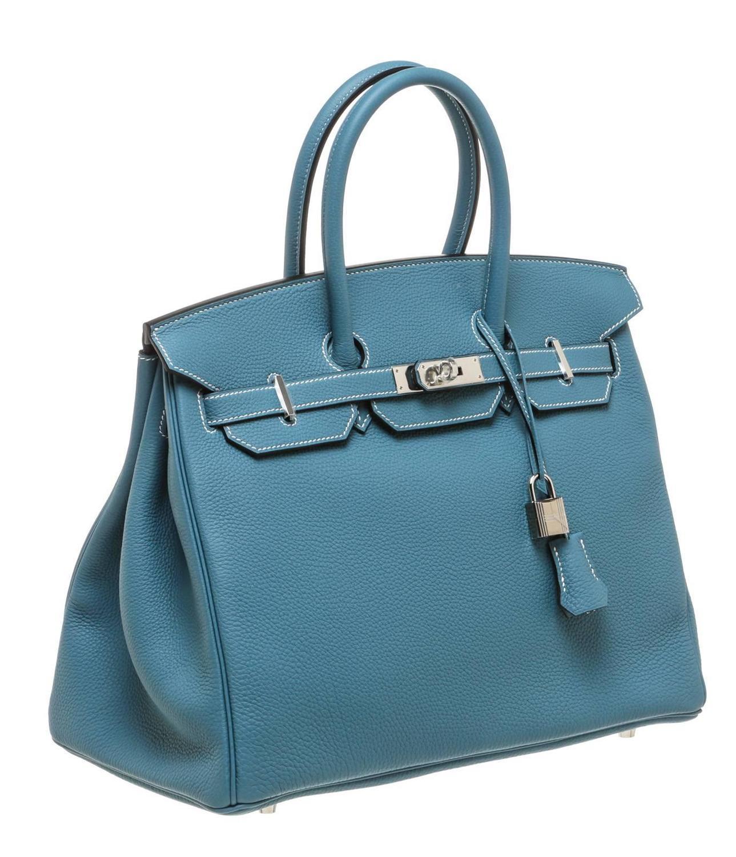 Hermes Bleu Jean Togo Leather Birkin 35cm Handbag SHW For ...