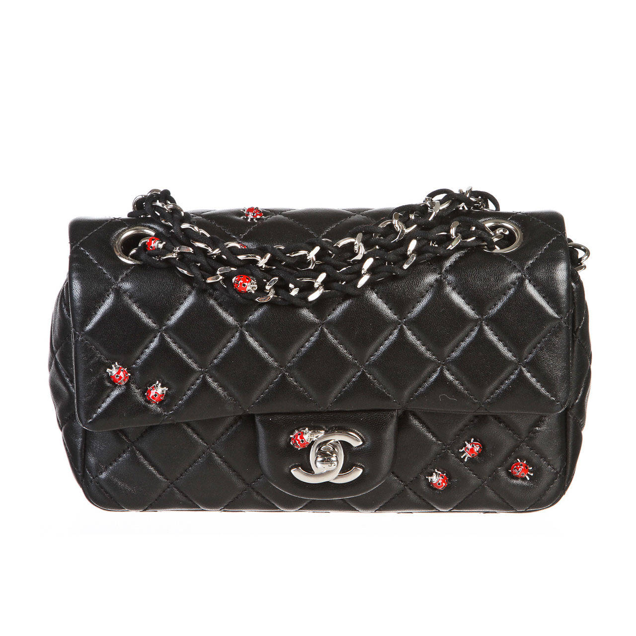 Chanel Black Quilted Lambskin Limited Edition Ladybug ...