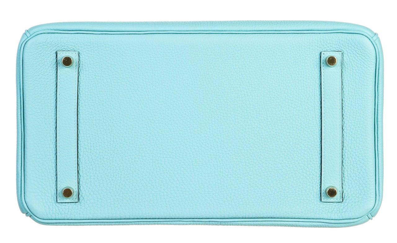 hermes bag cost - hermes 35cm birkin blue atoll leather bag gold hardware
