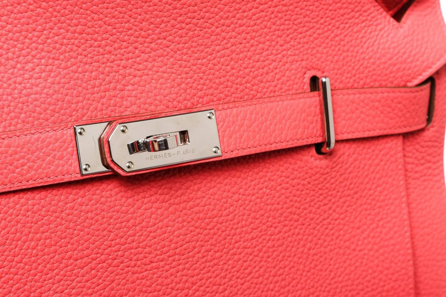 Hermes Pink Togo Leather Jypsiere 34cm Messenger Handbag SHW at ...