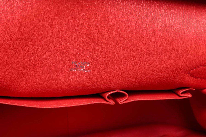 Hermes Pink Togo Leather Jypsiere 34cm Messenger Handbag SHW at ...