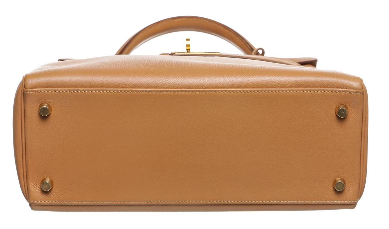 Hermes Gold Epsom Leather 28cm Kelly Handbag GHW at 1stdibs