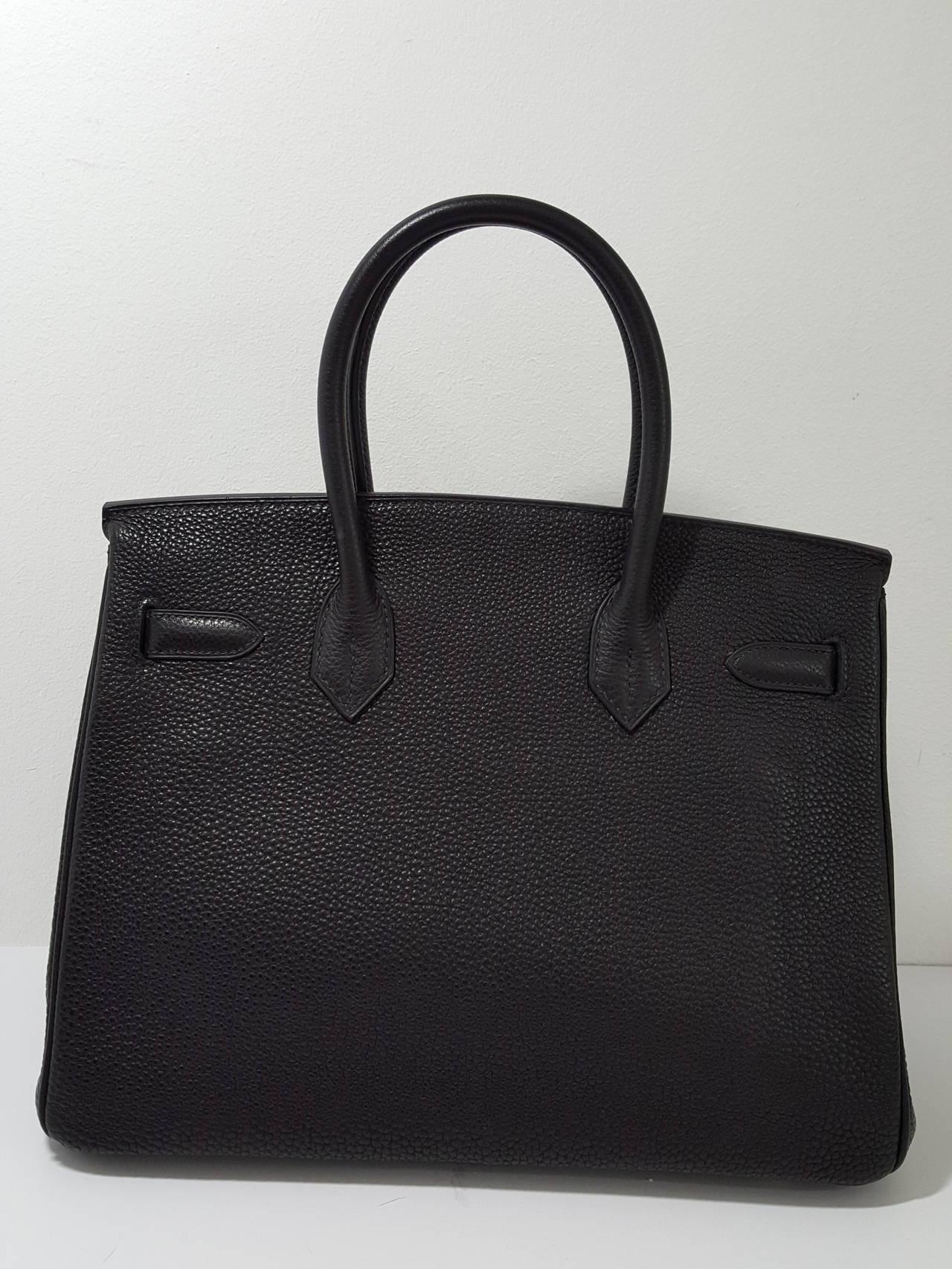 birkin clutch - HERMES Birkin 30cm Black with Palladium Hardware in Togo Leather ...