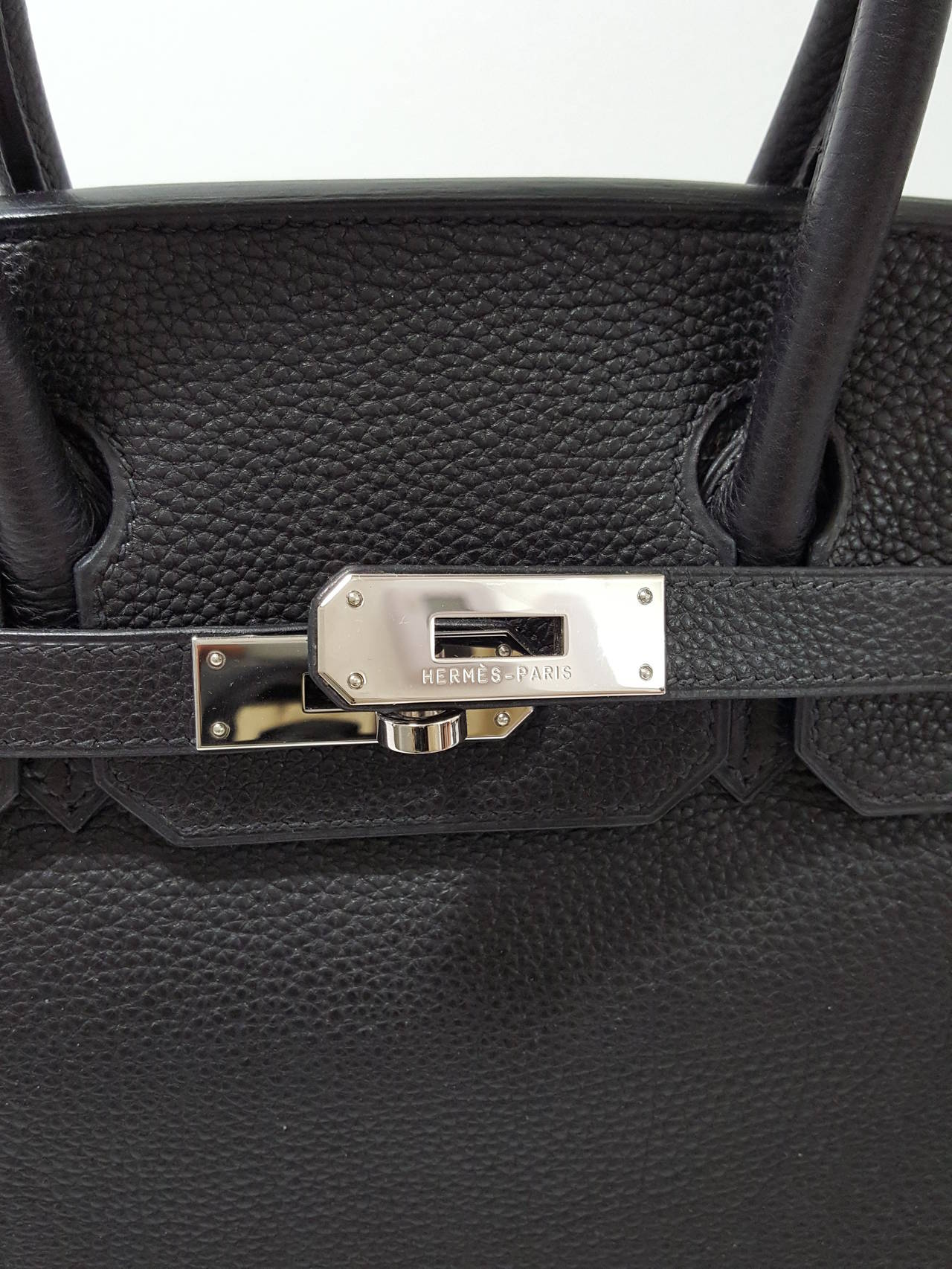 hermes hand bags - HERMES Birkin 30cm Black with Palladium Hardware in Togo Leather ...
