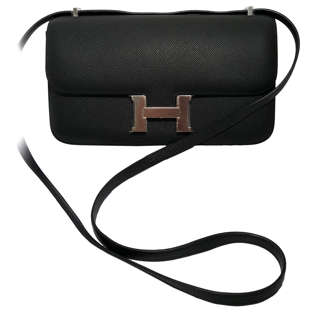 HERMES Constance Elan 25 cm Bag Black Epsom Leather w/ palladium ...