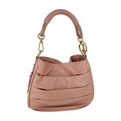 Beautiful Christian Dior Libertine Hobo In Soft Nude Calfskin With Gold Trim.