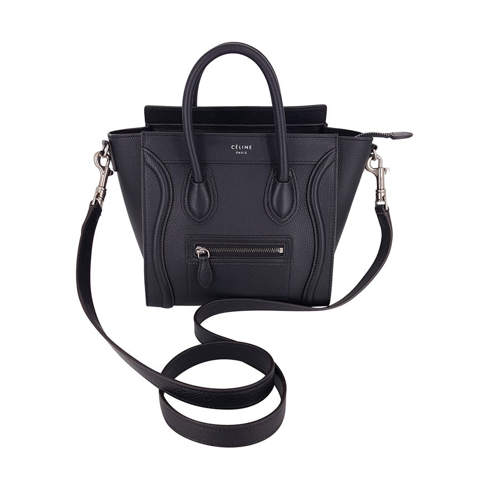 celine micro price - celine nano luggage black
