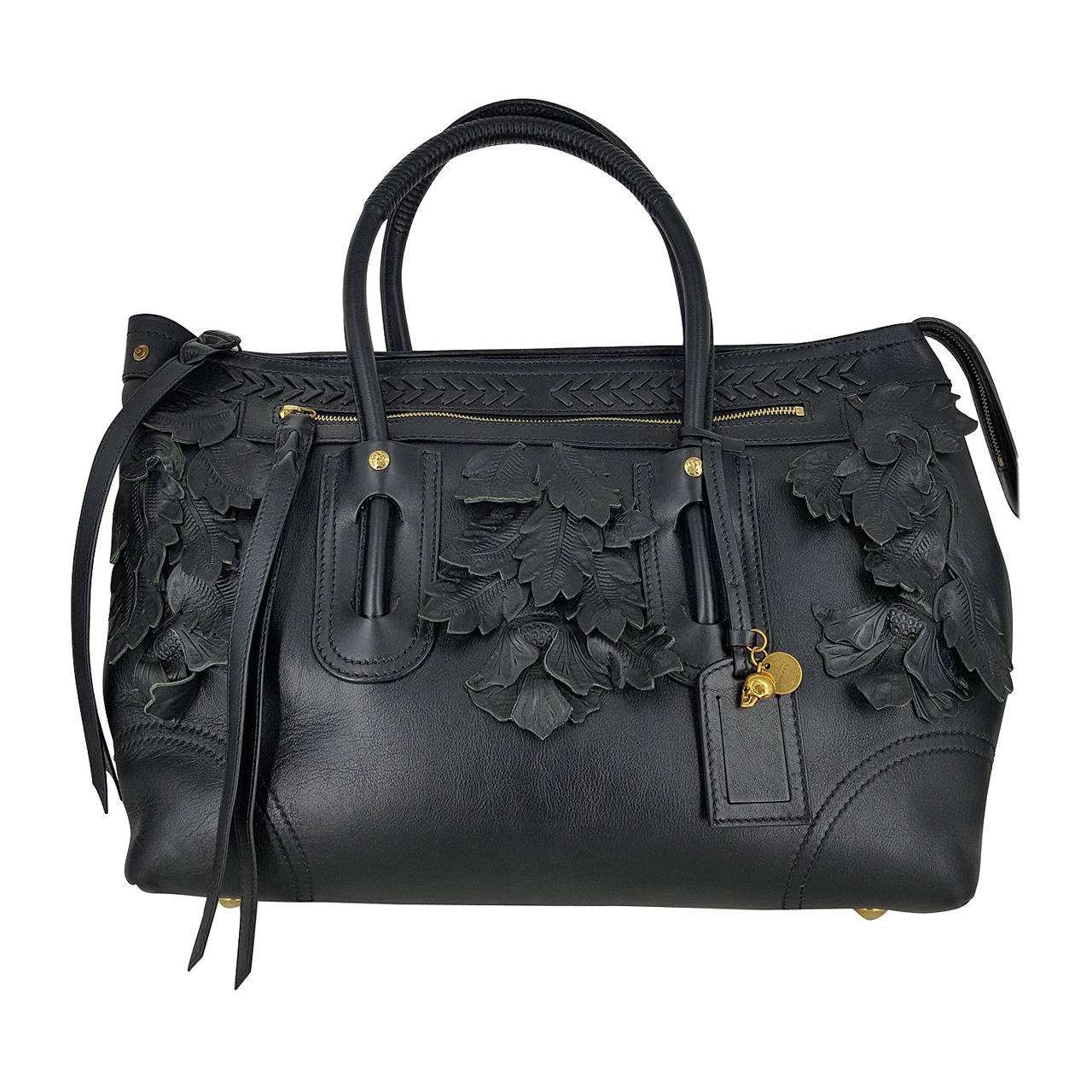 Xl Alexander Mcqueen Limited Edition Handbag With Leather