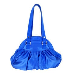 Pucci Cobalt Blue Satin And Suede Shoulder Bag - NWT  Great Color!