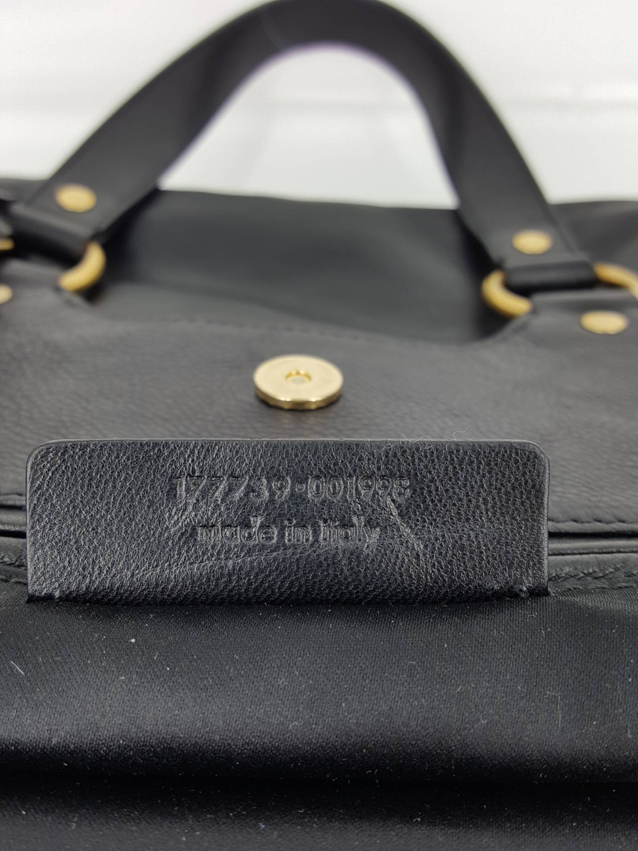 YSL Yves Saint Laurent Black Leather Tribute Bag. For Sale 4