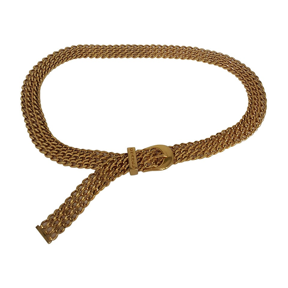 Rare Chanel Woven Chain Belt/Necklace from 1997.
