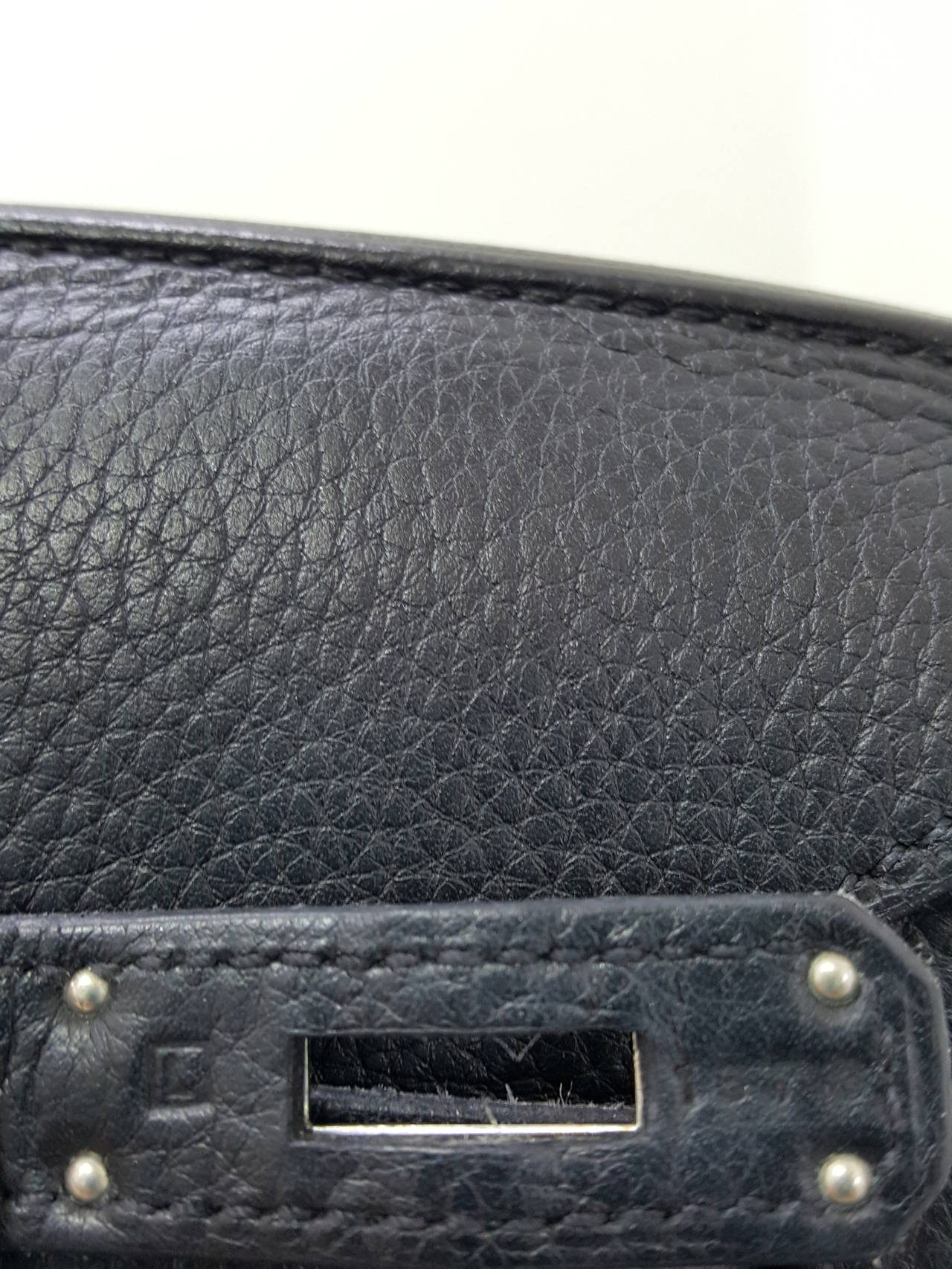 HERMES Birkin 35 CM In Black Clemence Leather With Palladium Hardware. For Sale 5