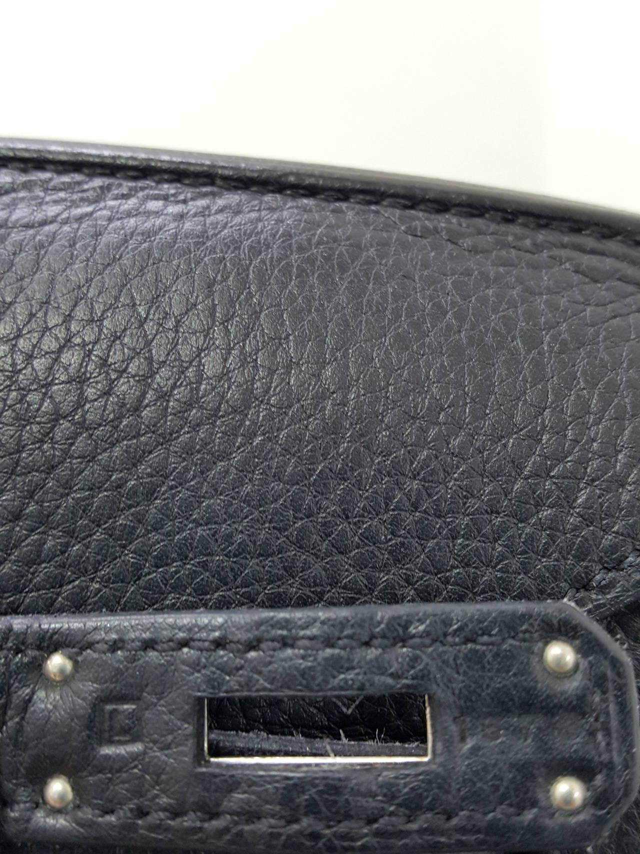 HERMES Birkin 35 CM In Black Clemence Leather With Palladium Hardware. 10