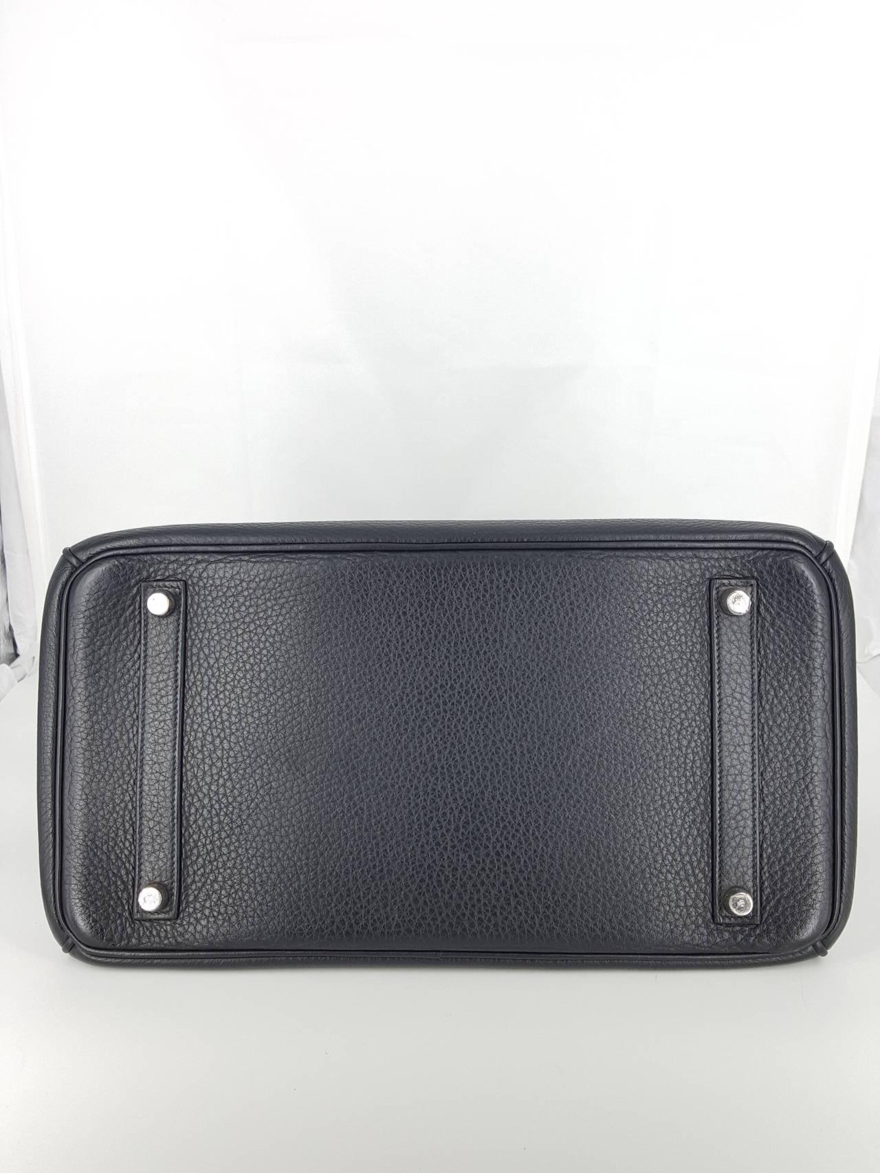 HERMES Birkin 35 CM In Black Clemence Leather With Palladium Hardware. 5