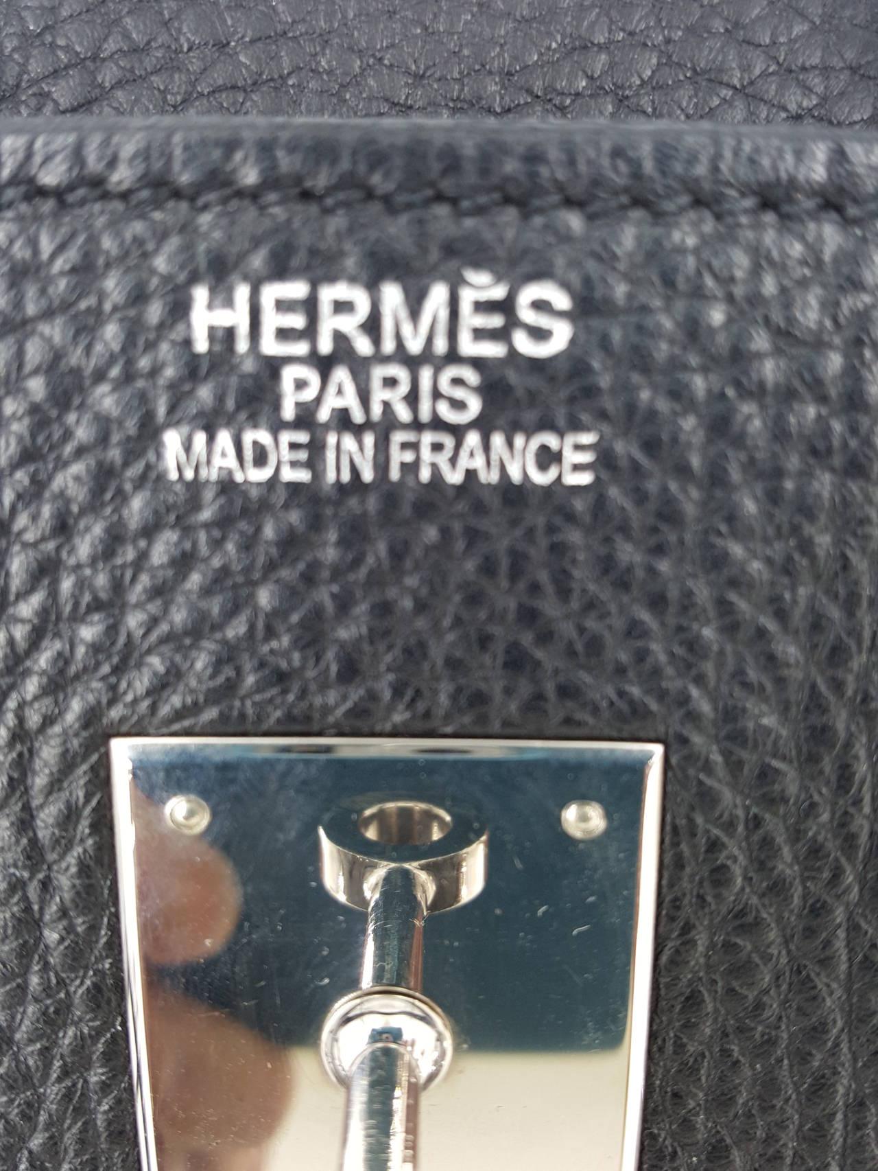HERMES Birkin 35 CM In Black Clemence Leather With Palladium Hardware. 7