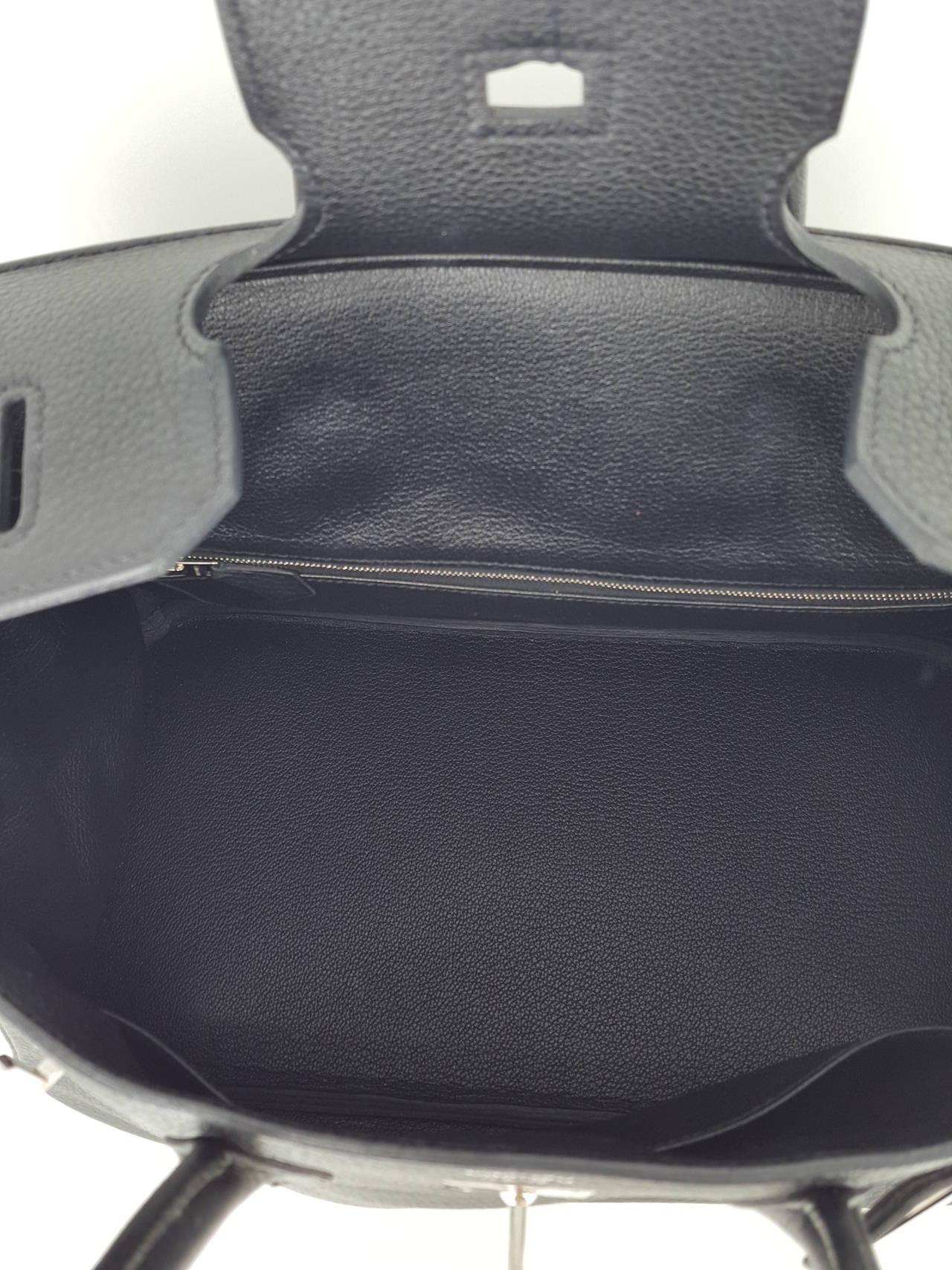 HERMES Birkin 35 CM In Black Clemence Leather With Palladium Hardware. 6