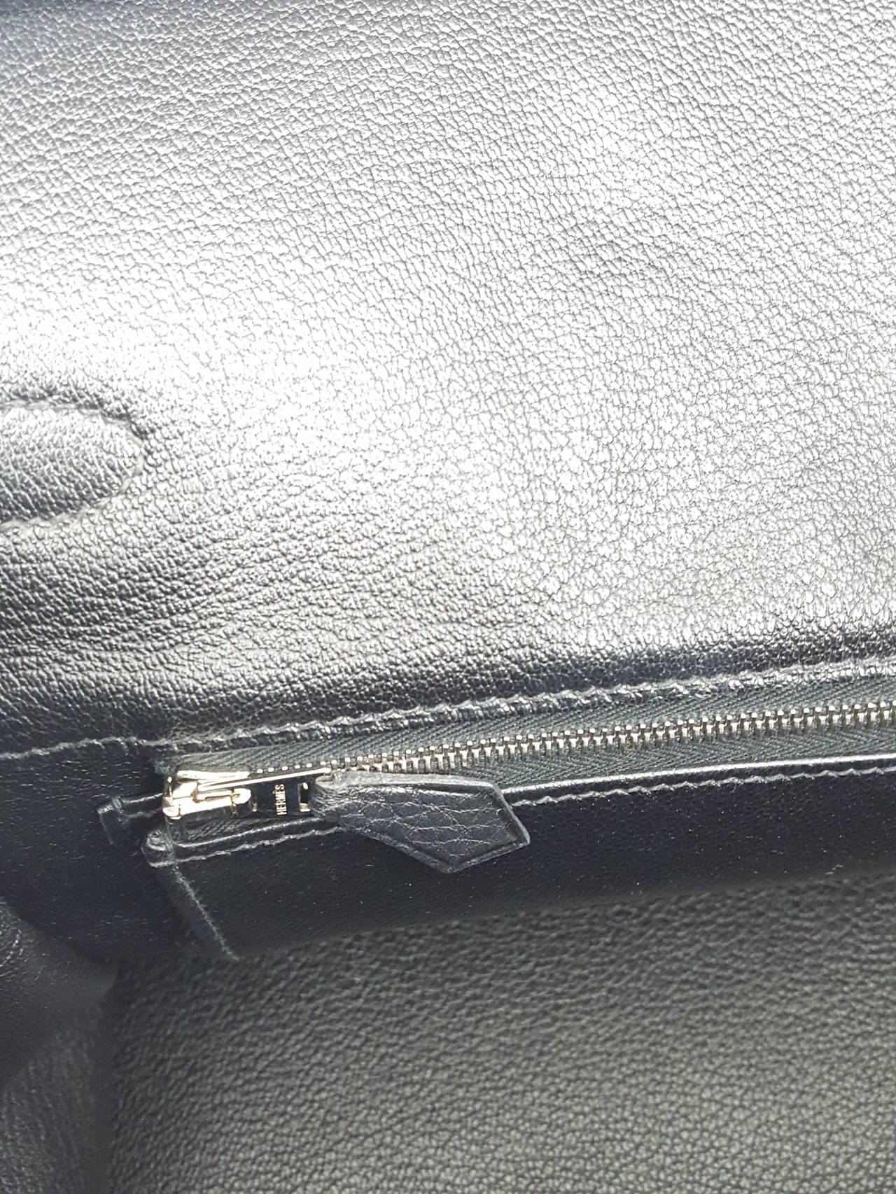 HERMES Birkin 35 CM In Black Clemence Leather With Palladium Hardware. For Sale 3