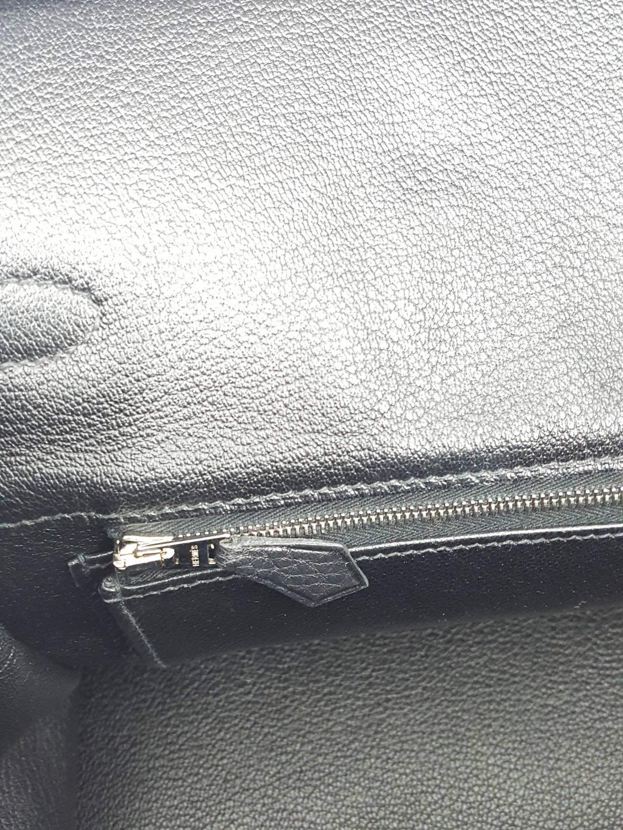HERMES Birkin 35 CM In Black Clemence Leather With Palladium Hardware. 8