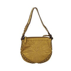 Limited Edition Gucci Bronze Leather Pelham Hobo With Tortoise Studs