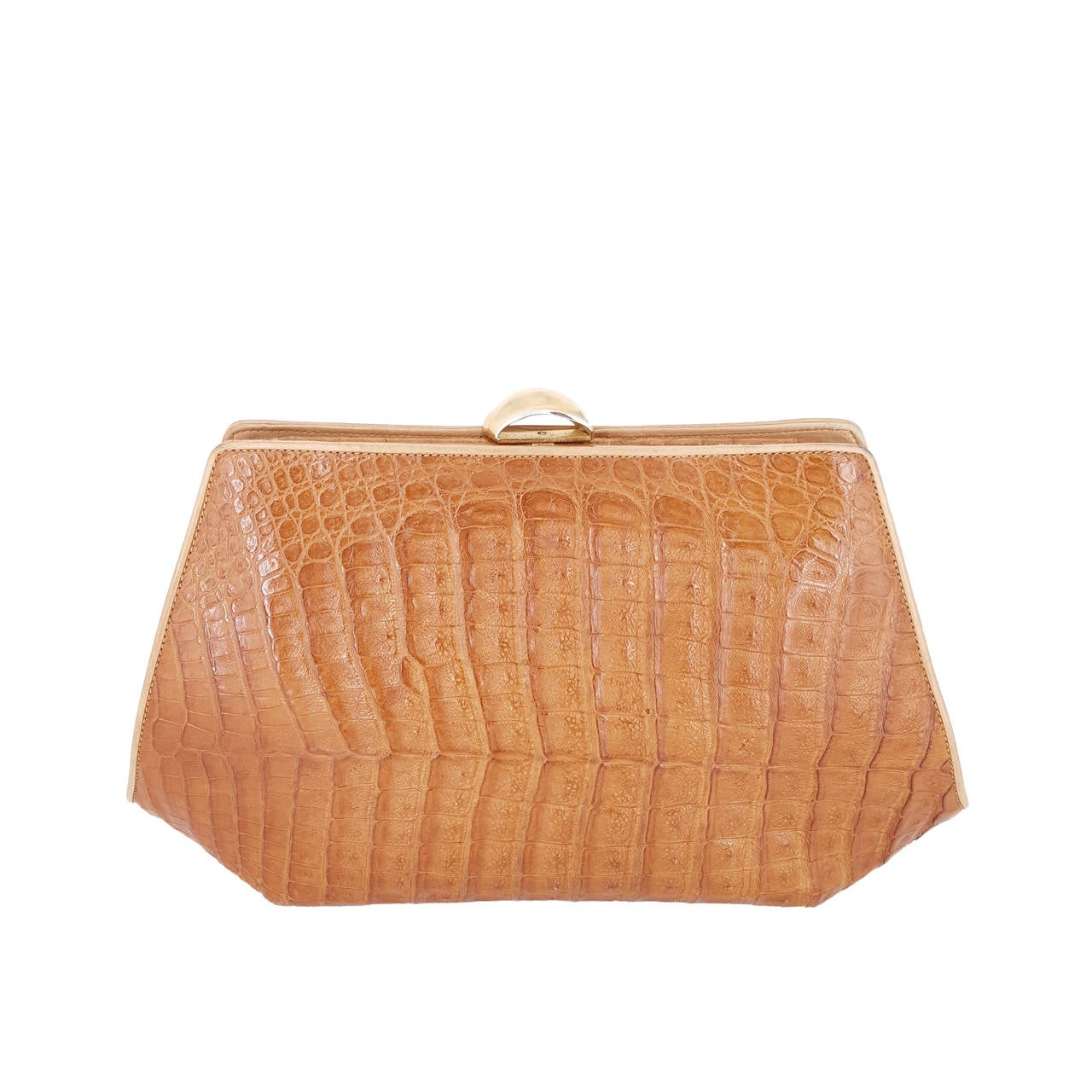 DKNY Rare Vintage Donna Karan Of New York Large Caiman Crocodile Clutch CdvA2piS
