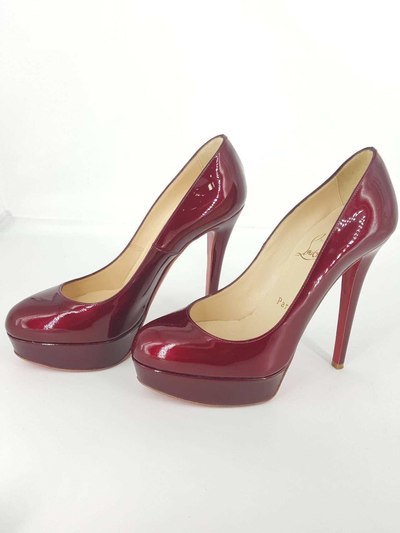 Christian Louboutin Candy Apple Red Patent Leather Pumps Size 36 1/2 2