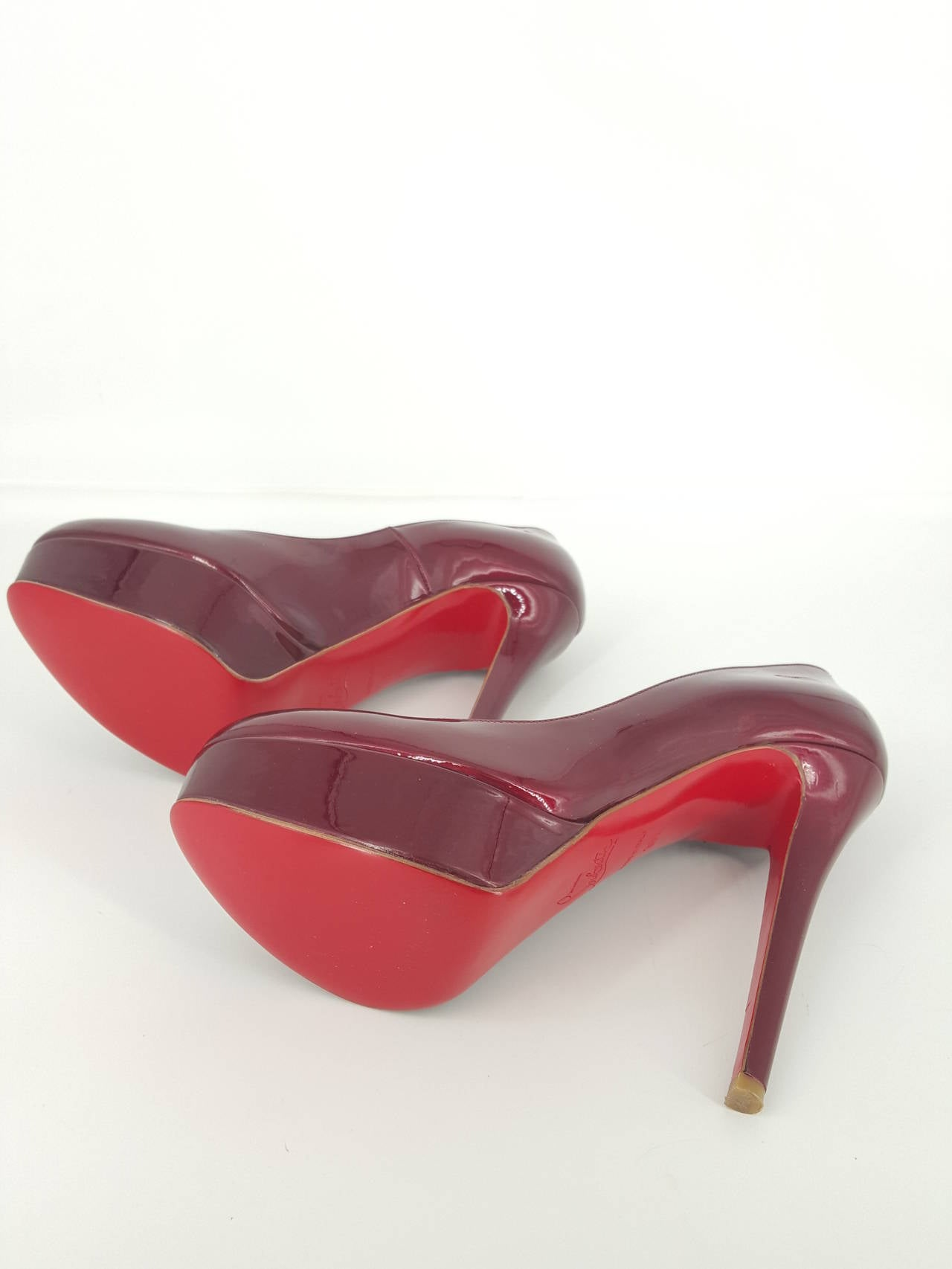 Christian Louboutin Candy Apple Red Patent Leather Pumps Size 36 1/2 3