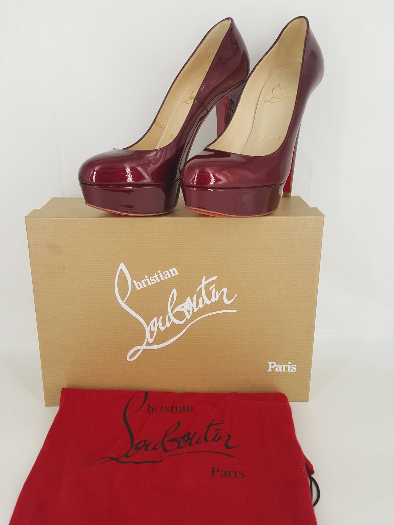 Christian Louboutin Candy Apple Red Patent Leather Pumps Size 36 1/2 5
